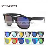 Vintage Sunglasses Men Retro Coating Sunglass Mirrored Colorful Unisex Black Frame Sun Glasses Oculos