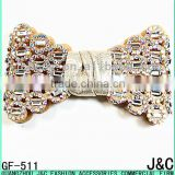 2016 crystal ab rhinestone with glass stone Decorated Shoe Bow