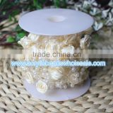 10 Meter Ivory Roses Pearl Garland Bead Wedding Decoration Table Flower Bouquet Centerpiece Bridal Hair Decor