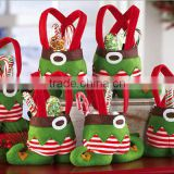 Festive & Party Supplies Fancy Candy Elves Pants Boot Christmas Gift new year Treat Bag Candy Sack Stocking Filler