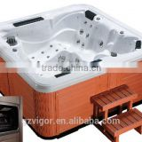 Vigor popular 5 person outdoor spa bathtub,hot tub balboa spa,pools stainless steel nozzle