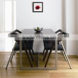 Industrial dining table of metal wood for hotel furniture