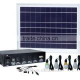 8W efficiency solar lighting kit/solar kits for africa with 4 lamps