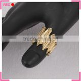 Ladies finger imitation gold ring design for Thumb, leaf shaped fancy imitation gold ring designs