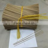 Round bamboo sticks 1.3mm 8'' and 9'' for agarbatties(micha@exporttop.com)