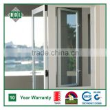 Australia, NZ standard casement window, side hung, clear glass, grey anodized aluminum frame