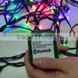 LED chain light with bluetooth music player voice box with 3pcs speaker
