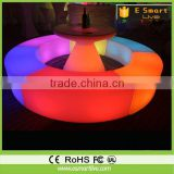 LED Bar Sofa / led restaurant furniture/led cafe sofa chair