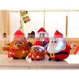25cm Super Cute Santa Claus Light Up Stuffed Plush Toy As Children's Gifts for Christmas