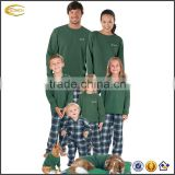 Ecoach Wholesale OEM New Spring Flannel Tartan Plaid Matching Pajamas for the Whole Family