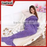 New Arrival Knitted Wearable Adults TV Mermaid Tail Blanket