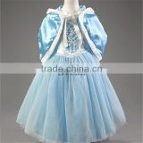 Beautiful Girls Dress Christmas dress with shawl kids costume Children's wear Fancy dress