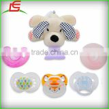 4 in 1 silicone teether plush animal pacifier holder and case