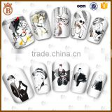 2017 Hot New Girls Fashion Nail Decal Art 3D Nail Sticker