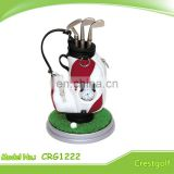 fancy golf pen holder with clock