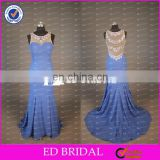 CE768 New Model Fashion See Through Back Beaded Designer Evening Gowns