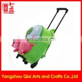 School kids trolley bag soft plush toy trolley backpack