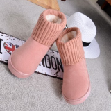 2018 new snow boots flat warm boots cotton boots flanging sets of feet in the tube casual cotton shoes wholesale