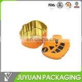 Pumpkin shape easter candy packaging/gift packing tin box for kids