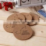 Antique color silk printing logo MDF wood coasters / cup mat