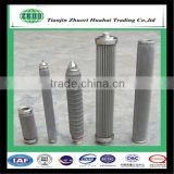 Multi layer sintered mesh and fiber metal felt pleated to increase filtration