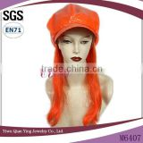 Fake orange hats with curly orange hair attached