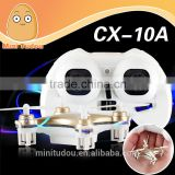 2015 hot sale 2.4G 4 CH 6-Axis Gyro CX-10A with light headless 3D flip helicopter