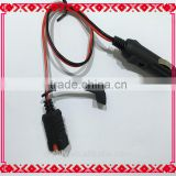 Automotive Motorcycle Cigarette Plug & Lighter To Male Connector & DUst Cover WIre Harness