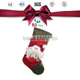 customized OEM design christmas Santa Claus & snowman stocking /stuffed and plush toys christmas ornament