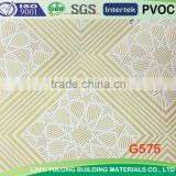 Golden pvc laminated gypsum ceiling tiles
