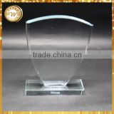 Good quality manufacture crystal glass plaque business awards