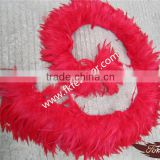Wholesale Natural Craft Red Rooster Tail Strung Feathers