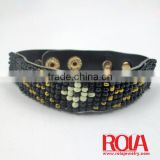 Leather bead bracelet WHOLEALE JEWELRY FASHION ORNAMENT ACCESSORY