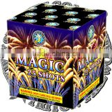 Magic 25 Shots/fireworks cake/wholesale fireworks/UN0336 1.4G consumer fireworks/fireworks factory direct price