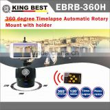 KING BEST Infrared remote control motion detect Motorized Rotating wireless remote Timelapse Pan Head for Gopro DSLR