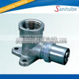 wholesale brass press fitting female elbow with socket for pex al pex pipe used for water supply and underfloor heating.