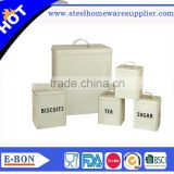 stainless bread box bread box and canister set