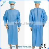 Cheap health care products factory price Nonwoven working suit, sterile disposable surgical gown with knitted cuff