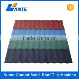 High quality aluminum zinc plate colorful stone coated metal roof tile machine, roofing hot sale in nigeria
