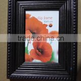 wholesale classical black personalized PS plastic photo picture frame standing and hanging
