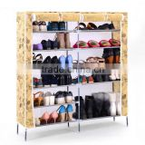 home furniture personal folding closet non-woven fabric cover waterproof shoe rack/shoe cabinet