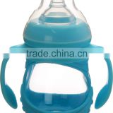 Hot sale FDA&LFGB certified food grade glass liquid silicone rubber baby bottle wholesale