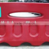 plastic traffic road barrier road block, road barricade