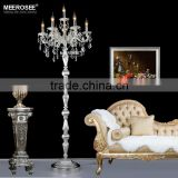 Silver Crystal Floor Standing Lamp, Crystal Chandelier Floor Lamp Living Room Furniture FL3134