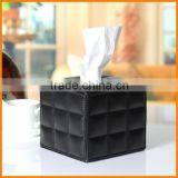 High-end household leather square tissue box roll carton creative living room Continental towel tube reel spool shipping