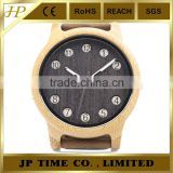 hot coming natural indonesia bamboo crazy horse leather magic time watch
