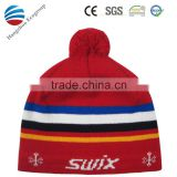 2016 new fashion knitted hat with two top balls