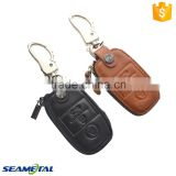 Car Genuine Leather Remote Key Cover Case For KIA Soul Cerato Optima K3 K5 Sportage Sorento 3 Button Accessories