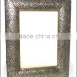 antique metal mirror frame,wrought iron framed mirrors ,fancy mirror frames , Hammered Mirror Frame
