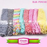 China wholesale clothing new good quality kids ruffle pants baby multicolored chervon capri pants                                                                                                         Supplier's Choice